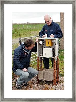 Air Quality Monitoring Framed Print by Public Health England