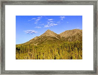 Alaska Mountains Framed Print