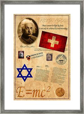 Albert Einstein Framed Print by Andrew Fare