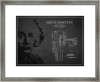 Albert Einstein Patent Drawing From 1930 Framed Print by Aged Pixel