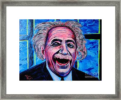 Albert Einstein Framed Print by Viktor Lazarev
