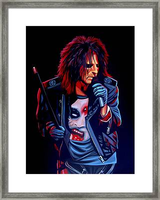 Alice Cooper  Framed Print by Paul Meijering