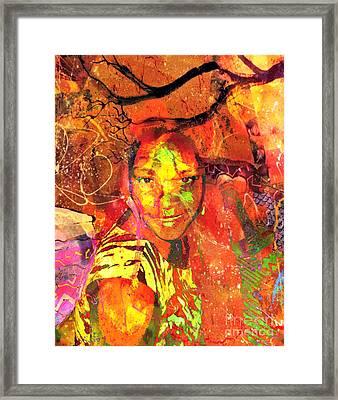 Alive Framed Print by Fania Simon