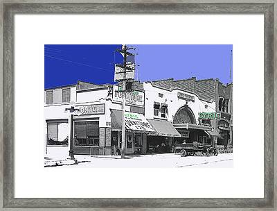 Allan Dwan Soldiers Of Fortune 1919 Lyric Theater Tucson Arizona 1919-2008 Framed Print by David Lee Guss