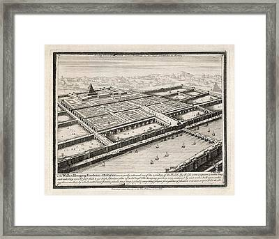 Allegedly Built By  Nebushadnezzar II Framed Print by Mary Evans Picture Library