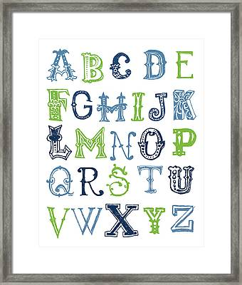 Alphabet Poster Framed Print by Jaime Friedman