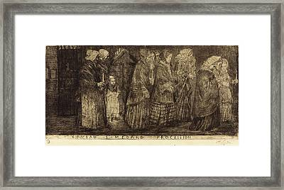 Alphonse Legros French, 1837 - 1911 Framed Print by Quint Lox