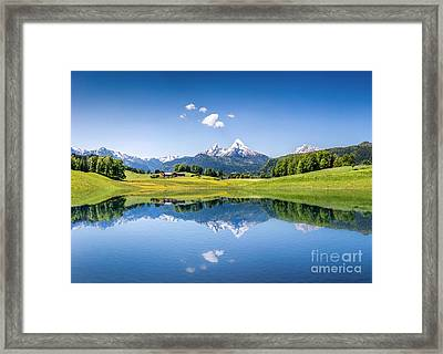 Alpine Summer Framed Print