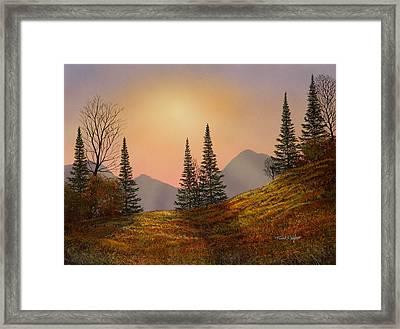 Alpine Sunset Framed Print by Frank Wilson