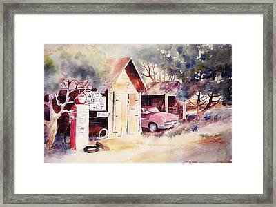 Framed Print featuring the painting Al's Auto Shop by John  Svenson