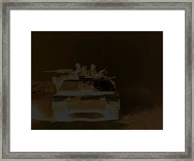 2 Am  Night Patrol On A Lonely Road Framed Print