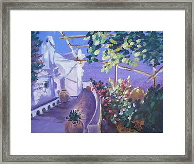 Framed Print featuring the painting Amalfi Evening by Julie Todd-Cundiff