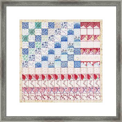 America The Beautiful Framed Print by Elizabeth Lee