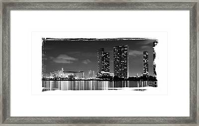 Framed Print featuring the photograph American Airlines Arena And Condominiums by Carsten Reisinger