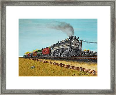 American Express Framed Print by Linda Simon