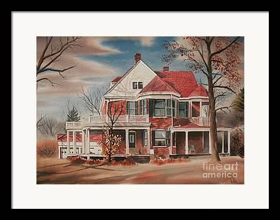 American Home Iii Framed Prints