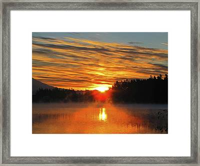 Framed Print featuring the photograph American Lake Sunrise by Tikvah's Hope