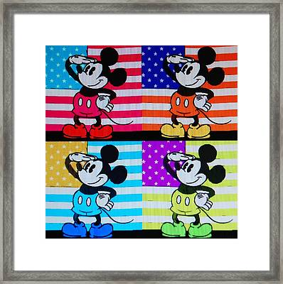 American Mickey Framed Print by Rob Hans