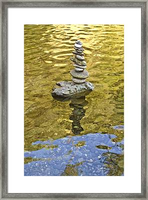 American River Rock Art Framed Print