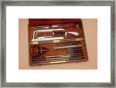 Amputation Instruments Framed Print