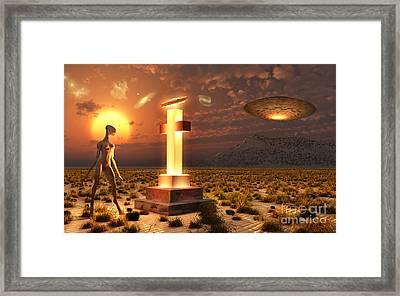 An Alien Returning To The Famous Crash Framed Print by Mark Stevenson
