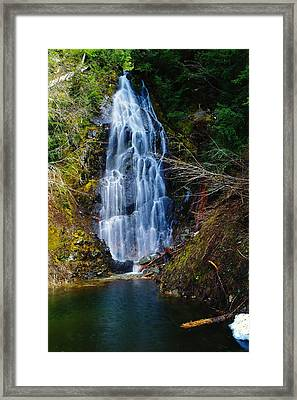 An Angel In The Falls Framed Print