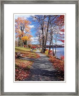 An Autumn Beside The Lake Framed Print by Cher Ferroggiaro
