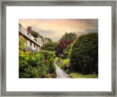 An English Garden Framed Print