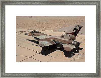 An F-16a Netz Of The Israeli Air Force Framed Print