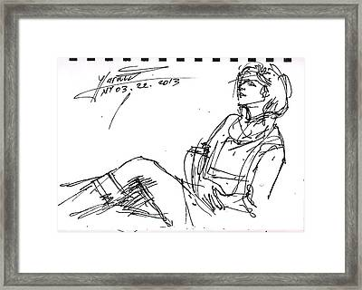 Ana Framed Print by Ylli Haruni