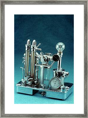 Anaesthetic Apparatus Framed Print by Science Photo Library