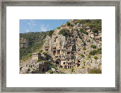 Ancient City Of Myra Framed Print by David Parker