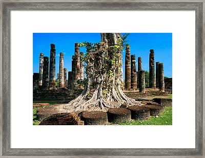 Ancient Temple Ruins Framed Print by Artur Bogacki