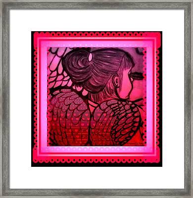 Angel Leah 2 Framed Print by Maryann  DAmico