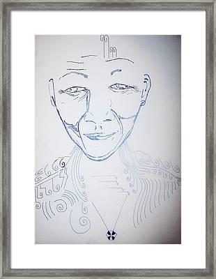 Angel Madiba - Nelson Mandela Framed Print by Gloria Ssali