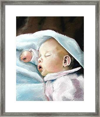Angel Sleeping Framed Print by Lenore Gaudet