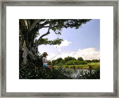 Angling For Summer Framed Print by Chrystyne Novack