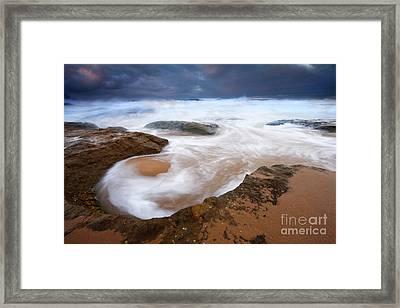 Angry Sea Framed Print