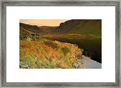 Annascaul Lake Framed Print by Barbara Walsh