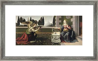 Annunciation Framed Print by Celestial Images