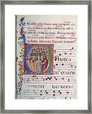 Anonymous Sienese Painter, Proprio Dei Framed Print by Everett