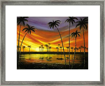 Another Sunset In Paradise Framed Print by Gina De Gorna