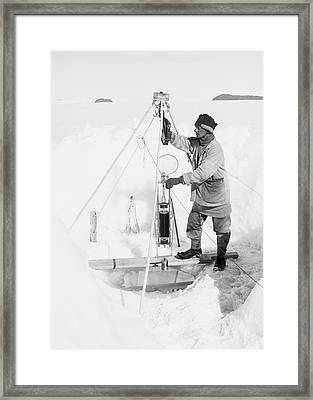 Antarctic Oceanography Research Framed Print
