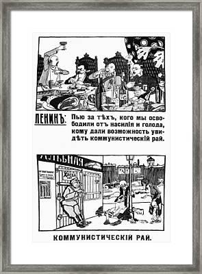 Anti-bolshevik Poster Framed Print by Granger