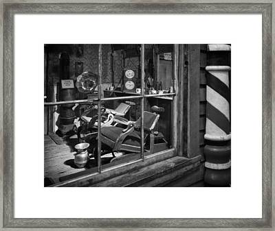 Antique Barbershop  Framed Print by Mountain Dreams