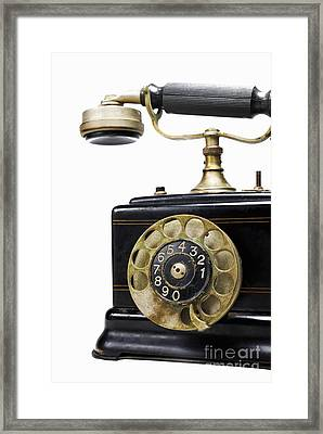 Antique Dial Telephone Framed Print by Sami Sarkis