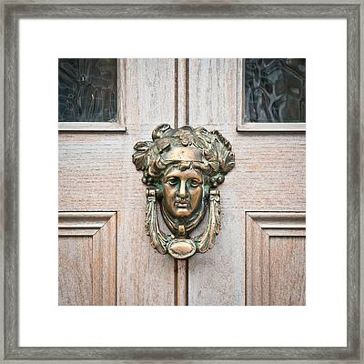 Antique Door Knocker Framed Print