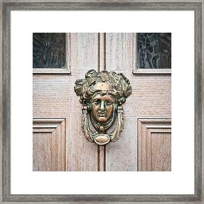 Antique Door Knocker Framed Print by Tom Gowanlock