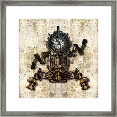 Antique Mechanical Figure Framed Print by Diuno Ashlee