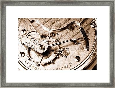 Antique Pocketwatch  Framed Print